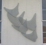 Pieces mounted on an external wall